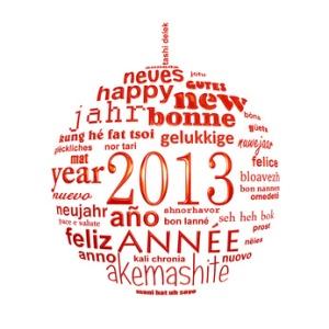 2013, boule multilingue rouge