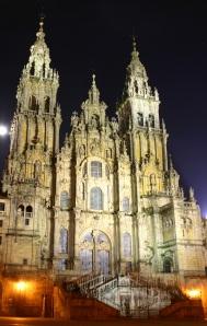 Santiago.de.Compostela.Catedral.Noche